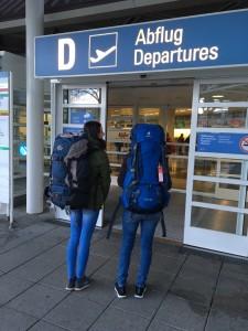 Abflug aus München